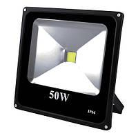 Прожектор світлодіодний матричний 50W COB, IP66 (вологозахист), гладкий рефлектор