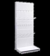 Стеллаж с подиумом и перфориванной задней стенкой без полок ВШГ: 1420×1200×300 мм.