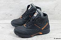Мужские кожаные зимние ботинки Reebok (Реплика) (Код: R оранж  ) ►Размеры [40,41,42,43,44,45], фото 1