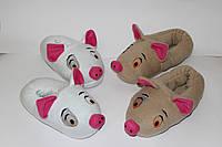 Тапочки игрушки Свинка Хрю Символ 2019 года Размер 25 - 45