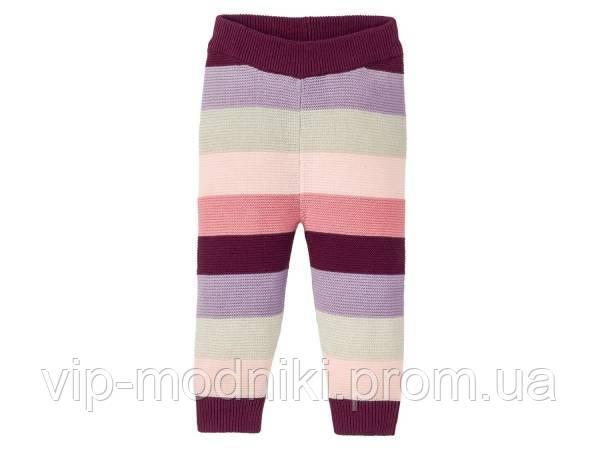 Вязанные штанишки на девочку рост 62/68см 2-6 месяцев. lupilu