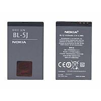 Оригинальная аккумуляторная батарея для смартфона Nokia BL-5J 5800 XpressMusic, С3, X1, X6 3.7V Black 1430mAhr 5.3Wh