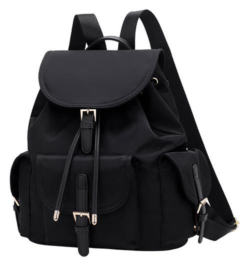 Рюкзак жіночий чорний з кишенями