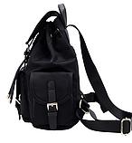 Рюкзак жіночий чорний з кишенями, фото 3