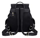 Рюкзак жіночий чорний з кишенями, фото 4