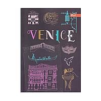 "Скетчбук А5, чёрные листы ""Venice"" ЗК-28"