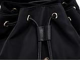 Рюкзак жіночий чорний з кишенями, фото 7