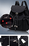 Рюкзак жіночий чорний з кишенями, фото 8