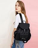 Рюкзак жіночий чорний з кишенями, фото 2