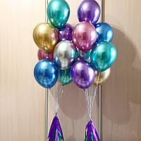 Шар хром с гелием 👉 серебро, золото, розовое золото, лиловый, изумруд, фиолетовый, синий, медный, лайм, красн
