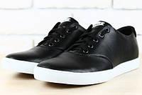 Кеды Nike черные кожаные, фото 1