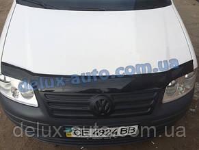 Зимняя матовая накладка на решетку (верхняя) на Volkswagen Caddy 2004-2010 гг.