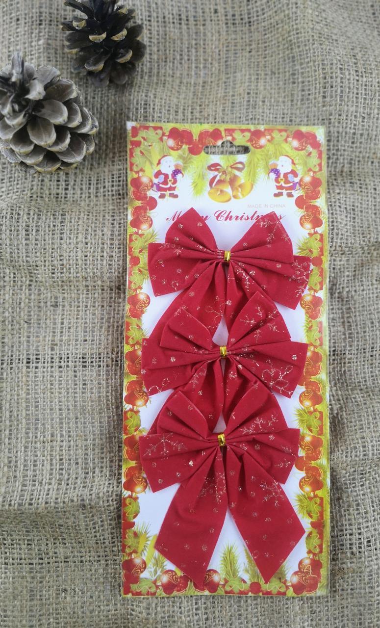Новогодний Бантик красный с золотом ЗА 1 ШТУКУ 99959 Китай