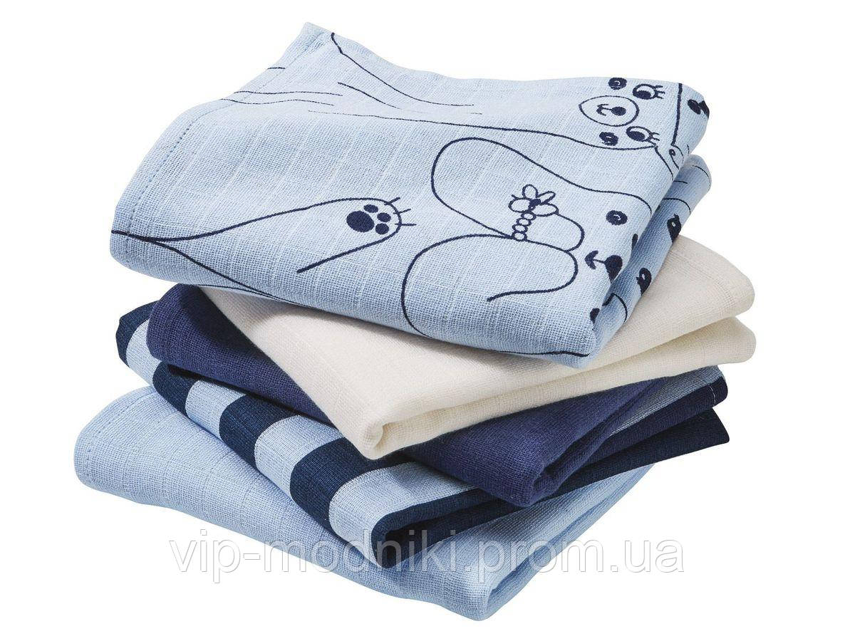 Пеленки упаковка из 5-ти шт. для мальчика .германия .lupilu.размер 78*78