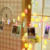 LED гирлянда с прищепками, подсветка для фото 2 м