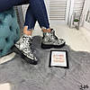 """Зимние женские ботинки """"Snake"""" питон эко кожа  //В НАЛИЧИИ ТОЛЬКО 37р, фото 3"""