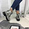 """Зимние женские ботинки """"Snake"""" питон эко кожа  //В НАЛИЧИИ ТОЛЬКО 37р, фото 6"""