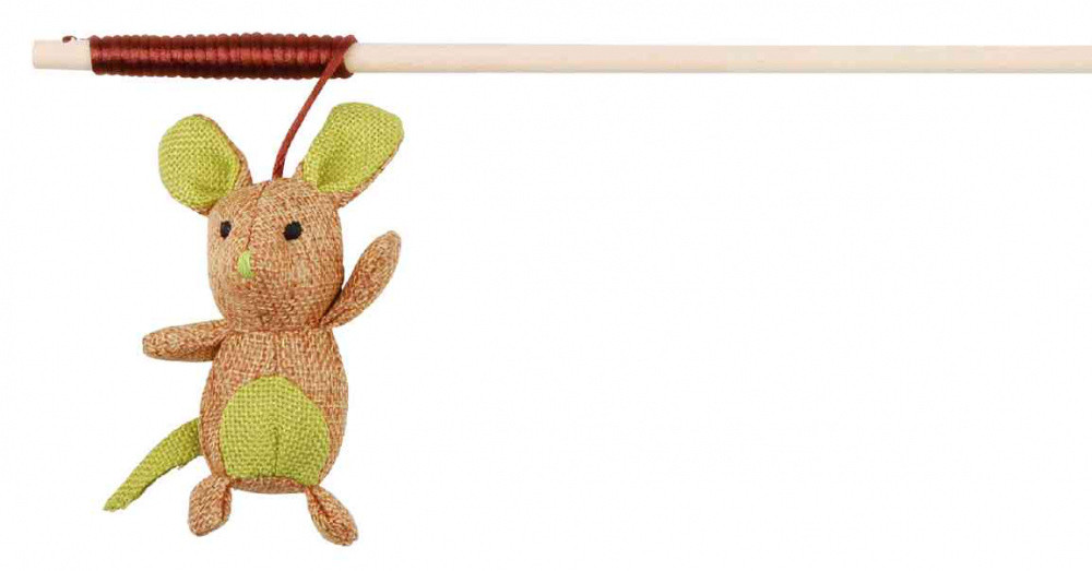 Іграшка для котів Паличка з мишкою з джуту Trixie 45751 40 см