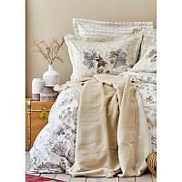 Набор постельное белье с покрывалом Karaca Home - Ginza kahve 2020-1 кофе евро