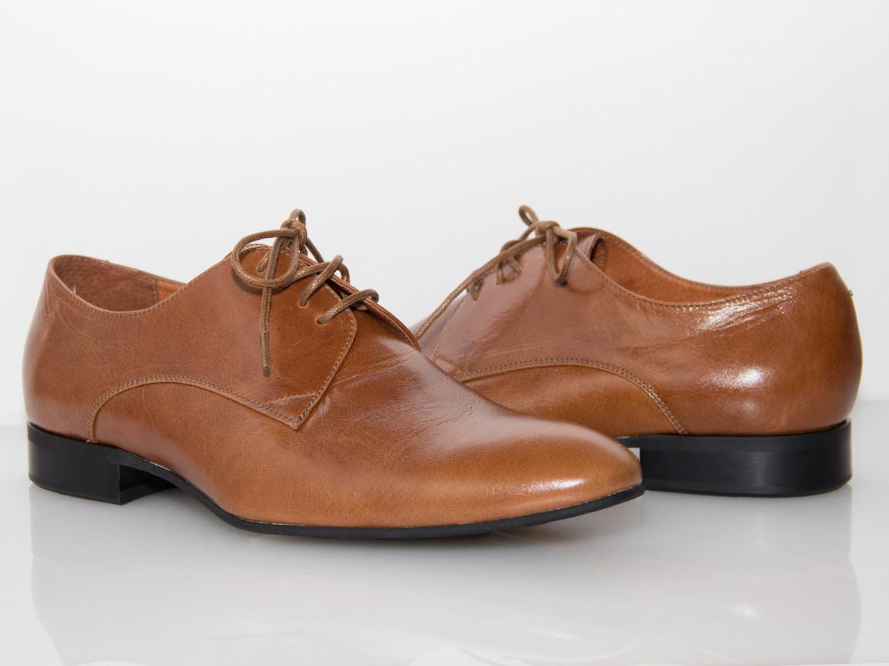 Туфли коричневые мужские/ man shoes 09007