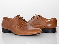 Туфли коричневые мужские/ man shoes 09007, фото 1