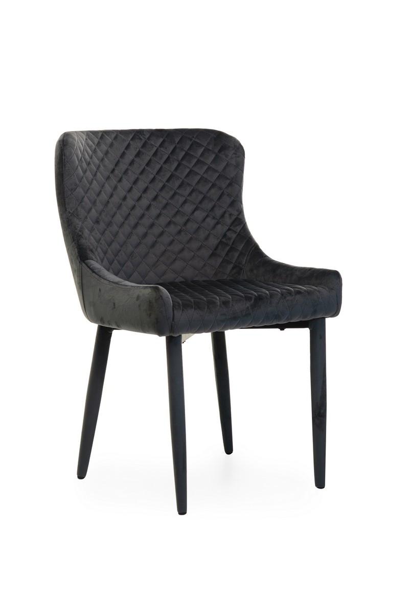 Стілець M-20 м'яке крісло метал, сірий вельвет в стилі модерн