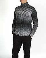 Мужская серый свитер с горлом