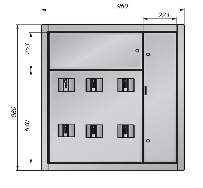 Щит этажный (корпус) ЩСО-98/5 на 5 квартиры