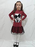 Нарядное детское платье с бантом