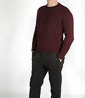 Мужской свитер бордовый