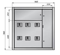 Щит этажный (корпус) ЩСО-98/6 на 6 квартир