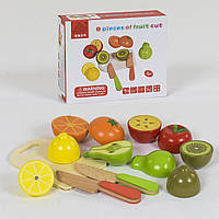 Деревянные фрукты на магнитах арт. 39275