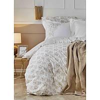 Набор постельное белье с пледом Karaca Home - Brave gold 2020-1 золотой евро