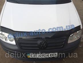 Зимняя накладка на решетку (верхняя) глянец на Volkswagen Caddy Life 2004-2010 гг.