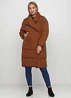 Куртка зимняя женская длинная, пуховик оверсайз, цвет коричневый  размер 42 (ХL) СС-8515-76