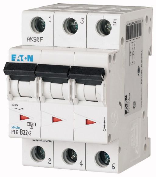 Автоматический выключатель PL6-C32/3 3-полюс (286604) EATON
