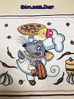 Новогоднее махровое полотенце  салфетка  символ года , Мышка повар 35*35 см