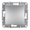 Выключатель одноклавишный самозажимной ASFORA, Алюминий (EPH0100161) Schneider