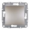 Выключатель одноклавишный самозажимной ASFORA, Бронза (EPH0100169) Schneider