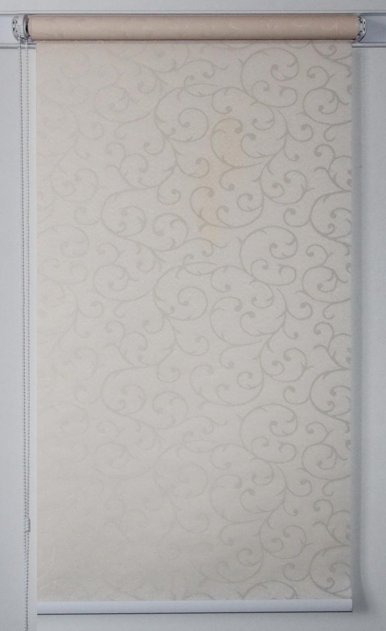Рулонная штора 950*1500 Акант 2236 Слоновая кость