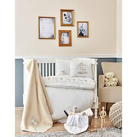 Детский набор в кроватку для младенцев Karaca Home - Atlikarinca 2019-2 bej (8 предметов)