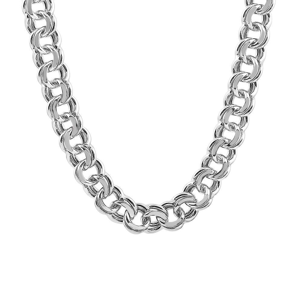 Серебряная цепочка ГАРИБАЛЬДИ 8.5 мм, 60 см