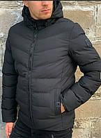 Куртка glo story мужская черная зима-осень
