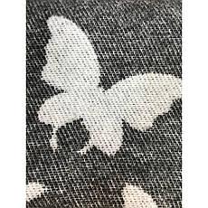 Плед Хлопковый 140X200 VLADI Бабочки Бело-серый, Темно-серый, Беж, фото 2