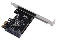 ТОВАР ИМЕЕТ ДЕФЕКТ! Плата расширения PCI-E в 2 порта SATA3.0 6Gb Уценка! №1004 Уценка!