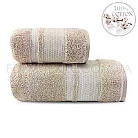 Полотенце махровое из бамбука Şıkel Bamboo Creative, Бежевый, 70х140