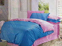 Постельное белье Евро размера Fashion сине-розовое