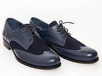 Туфли кожаные синие, фото 1