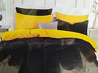Сімейна постільна білизна Fashion чорно-жовте