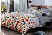 Двуспальное постельное белье Koloco полевые цветы
